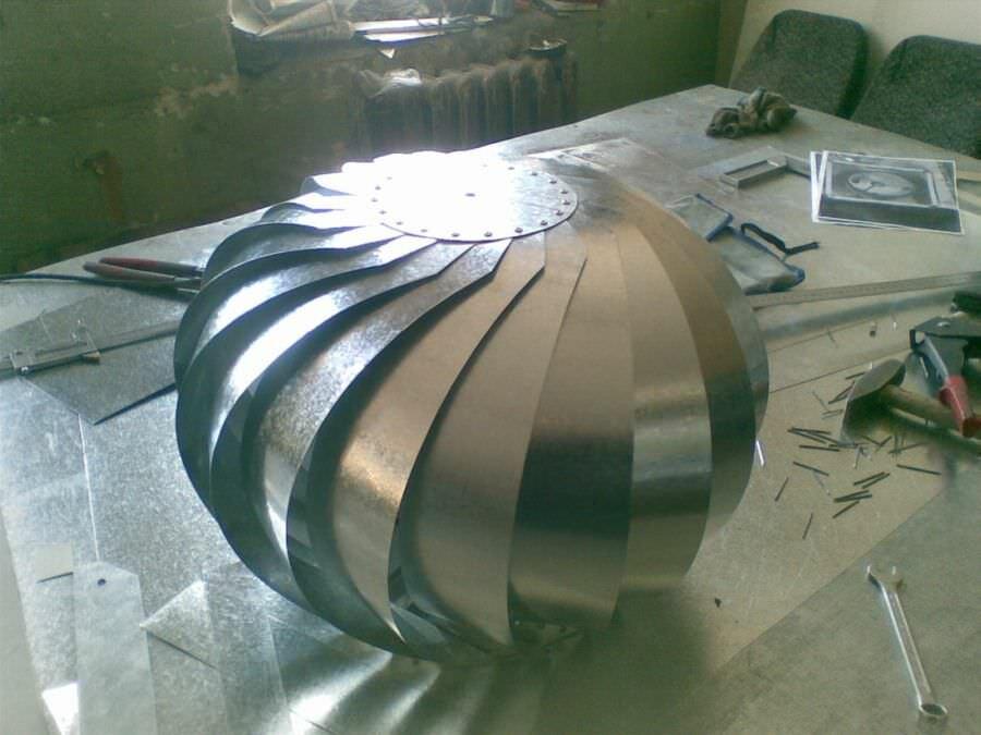 Турбодефлектор можно изготовить своими руками