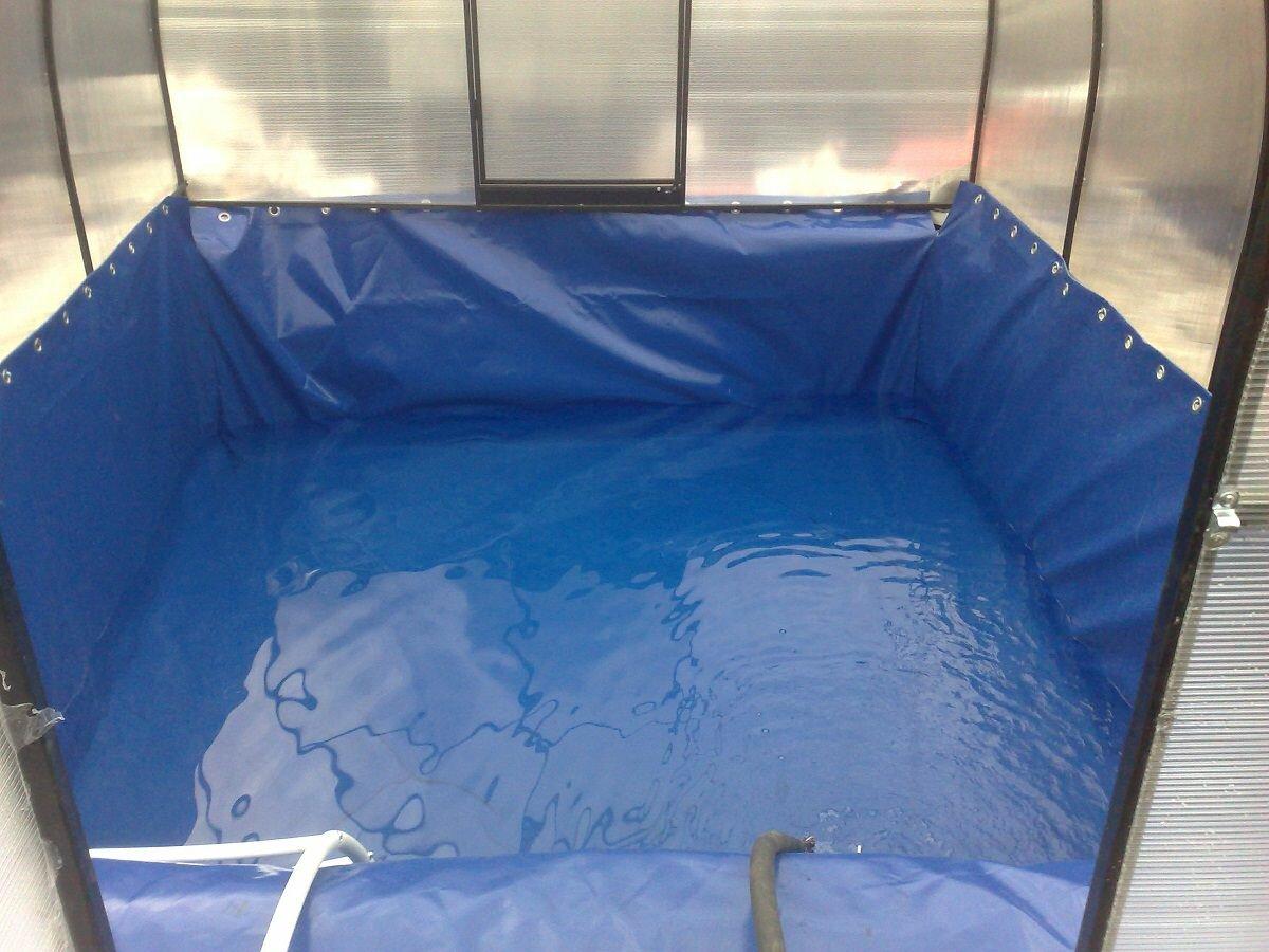Теплица защищает бассейн от различных загрязнений: листьев, пыли, насекомых