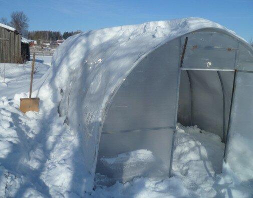 нужно ли закладывать снег в теплицу весной