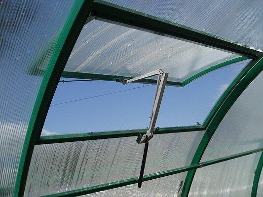 Наличие форточки в теплице помогает вырастить хороший урожай и поддерживать правильный микроклимат в помещении
