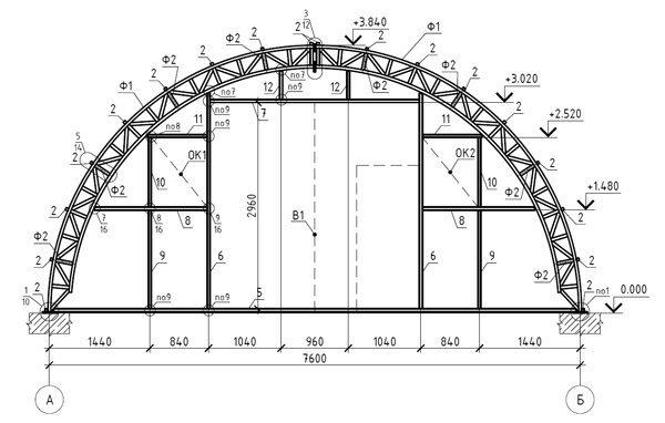 Проекты и чертежи для промышленных теплиц можно найти в сети Интернет