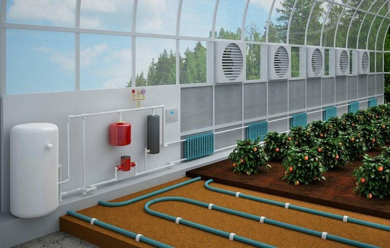 Теплица зимнего типа в обязательном порядке должна быть оснащена системой вентиляции